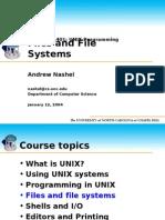 Unix Programming - Files & File Systems (the University of North Carolina of Chapel Hill)