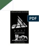 Desapariciones (Poesia) - Paul Auster