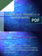 CRITERIOS  DE INGRESO