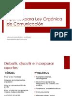 Apuntes Ley de Comunicacion
