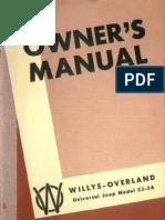 Cj3a Owners Manual