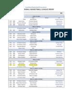 NEW 2011 Miniball League Draw - Week 8