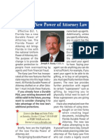 Florida Has a New Durable Power of Attorney Law Effective Oct. 1, 2010