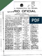 DECRETO Nº 64.187 — DE 11 MARÇO DE 1969
