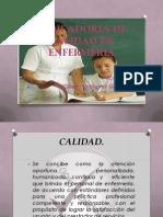 INDICADORES DE CALIDAD ÉN ENFERMERÍA