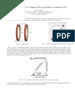 Behavior of a Torsion Pendulum in a Helmholtz Coil