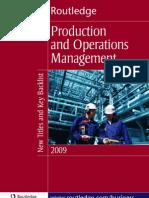 Operations Managment 2009 Uk