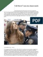 Ma Occupy Wall Street Non Sta Rinnovando La Sinistra