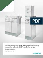 Celdas SIEMENS para redes distribución secundarias con gas