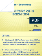 Gdp at Factor Cost & Mkt Cost Macroeconomics Ppt