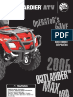 2006 Can-Am Outlander Max 400 H.O. XT Manual