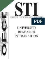OCDE 1999c Univ-research