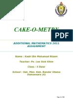 Add Math 2011 Project Cake