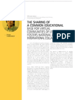 Sergey A. Yablonsky. The sharing of a common educational base for virtual communities of learners fosters national and international collaboration