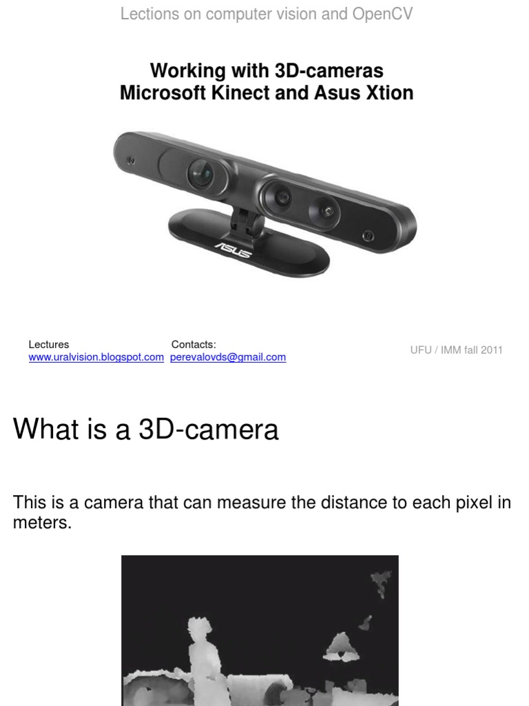 OpenCV Lection: 3D cameras Kinect and Xtion   Infrared   Camera