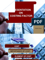Ppt on Costing Factor