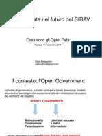 Gli OpenData nel futuro del SIRAV
