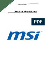 Instalacion paquetes MSI