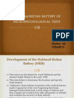 Halstead-reitan Battery of Neuropsychological Tests