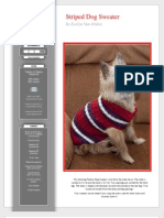 Striped Dog Sweater