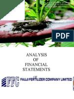 25519731 Analysis of Financial Statements of Fauji Fertilizers