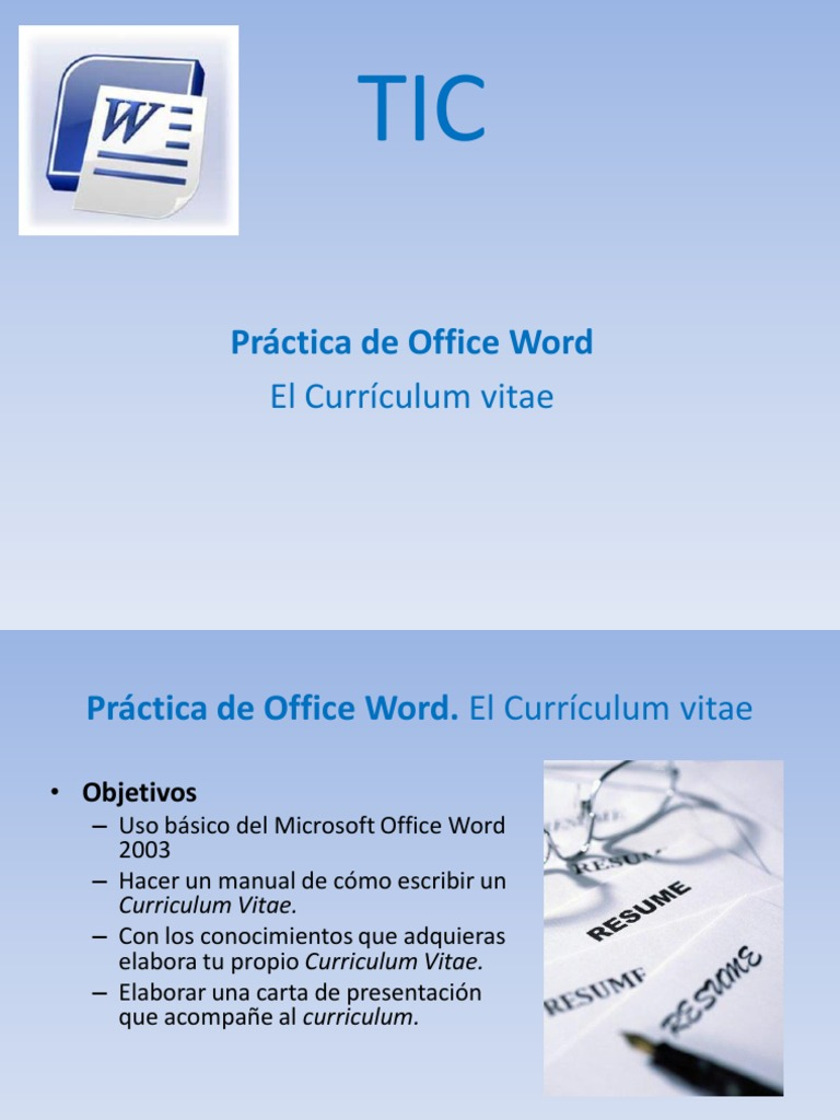 TIC Actividad 07 Word Curriculum