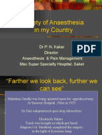 Safety of Anaesthesia