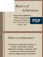 Arbitration SG JRO 9-22-03