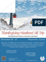 Thanksgiving Weekend Ski Trip