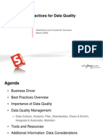 Best Practices for Data Quality