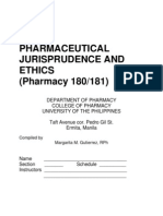 Pharmaceutical Jurisprudence and Ethics Manual