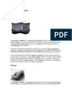 Input Devices and Output Devices