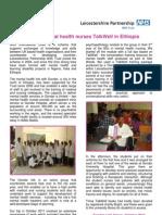 Student Mental Health Nurses TalkWell in Ethiopia, Oct 2011