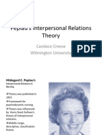 Peplau's Interpersonal Relations Theory power point