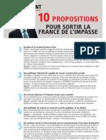 10 propositions pour sortir la France de l'impasse