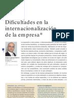 Dificultades en La Internacionalización de La Empresa
