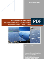 Gujarat Solar Tariff Discussion Paper