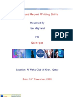 Advanced Report Writing Skills