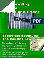 Lending Crisis Power Point Subprime
