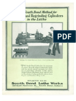 1925 - The South Bend Method for Reboring and Regrinding Cylinders in a Lathe - Bulletin No 89