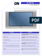 Manual Thomson 32quot 169 Xf 100hz High Focus Tv PDF en 290008