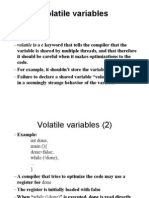 Volatile Variable