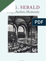 W.G. Sebald- Image Archive Modernity