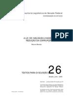A LEI DE INELEGIBILIDADE E A REDUÇÃO DA CORRUPÇÃO  MARCOS MENDES