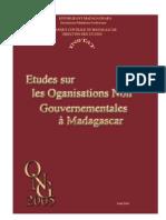 Etude sur les organisations non gouvernementales à Madagascar - 2005 (INSTAT - 2006)