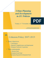 Urban Planning and Dev Elopement in Eu Policies