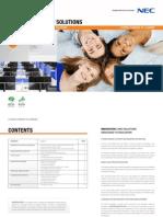 NEC Brochure EDUCATIE Display Solutions