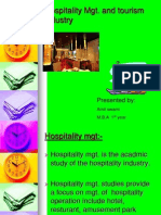 Hospitality and Tourism Industry 1
