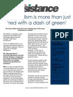 Eco Socialist Leaflet