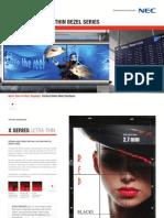 NEC Brochure Ultra-Thin Bezel series